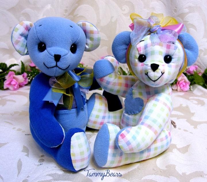 Tammybears Memory Teddy Bears Custom Made From Your