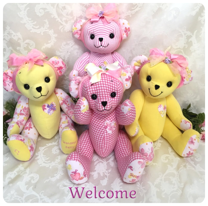 Custom Made Memory Bears from Your Loved Ones Clothing