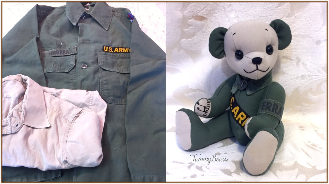 7b982d5d Custom Made Memory Bears from Your Loved Ones Clothing. - TammyBears